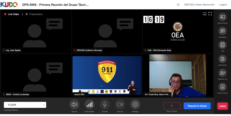 Panel 3: Marvin Palma, Jefe de Operaciones, Sistema de Emergencias 911, Costa RIca